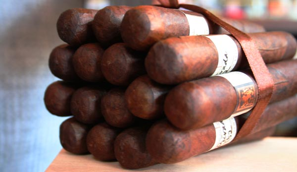 Zigarren Bundel mit speziellen Zigarren aus Bielefeld zusammen gerollt zu einem Bundel